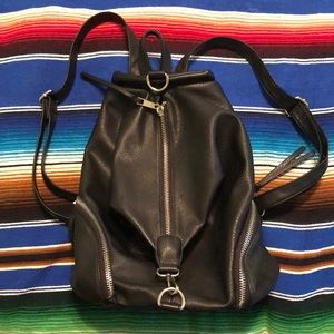 Black Nordstrom's Faux Leather Backpack